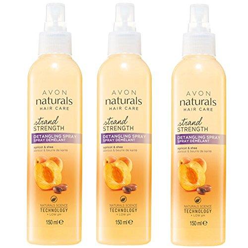 Avon Naturals Lot de 3 sprays démêlants Abricot et Karité 150 ml