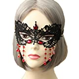 Bigood Mascarade Masque Femme Dentelle Mask Déguisement Bal Princesse Noël Halloween Erotique