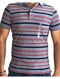 Tommy Hilfiger Mens Short Sleeve Slim Fit Coupe Etroite Polo T-Shirts Colour Grey IMPORTED FROM USA