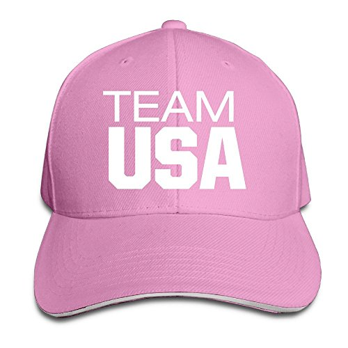 Maneg 2016 USA Team Sandwich Peaked Hat & Cap, unisex, rose