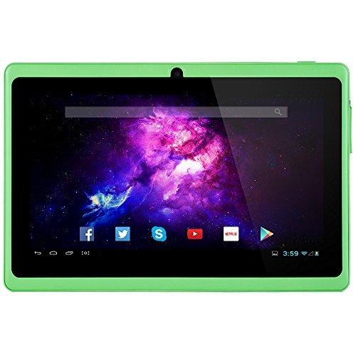 Alldaymall A88X 17,8 cm (7 Zoll) Tablet PC - Android 4.4, Quad Core, HD 1024x600, Dual-Kamera, Bluetooth, Wi-Fi, 8GB, 3D Spiel Unterstützte -Grün (3rd Generation)