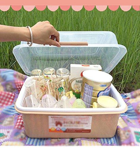 Flasche Aufbewahrungsbox Resistent Bakterien Drain Rack Portable Staubdicht Clamshell Geschirr Lagerung , large