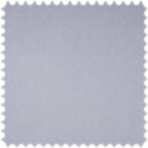polstereibedarf-online AKTION Original Microfibres® Flockvelours Möbelstoff LONGLIFE Soft Pastell Taubenblau