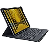 Logitech UNIVERSAL FOLIO Case With Integrated Bluetooth Keyboard For 9-10 Inch Apple, Android, Windows Tablets
