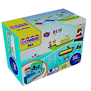 """Game Movil """"Sea"""" Combisticker - Bloque de construcción en Maleta (56 Piezas"""