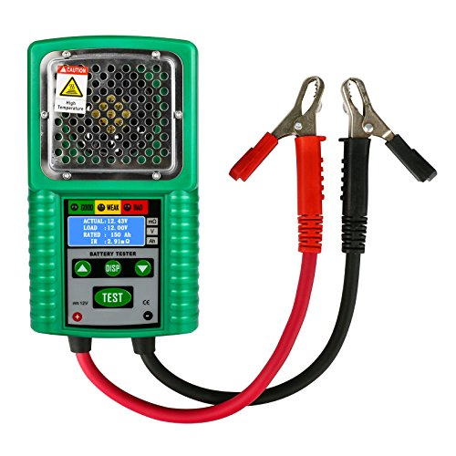 MRCARTOOL Automotive Batterie Tester 6 V / 12 V Digital Batterie Analyzer Bleiakkumulatoren Automotive Batterielast Tester für UPS Batterie, Solar Energy Akku, Marine Batterie (80A 40Ah ~ 200Ah)