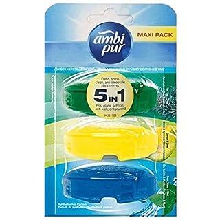 Ambi Pur 6 x 3 flüssige WC-Steine Nachfüller 3 x 55ml - Tea Tree/Lemon / Freshwater