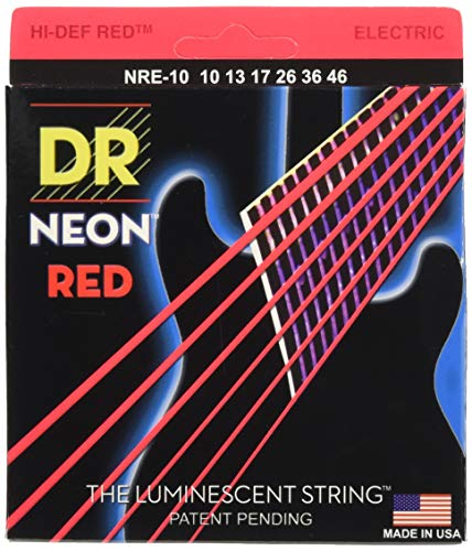 DR String NRE-10 Neon Red E-Gitarrensaiten
