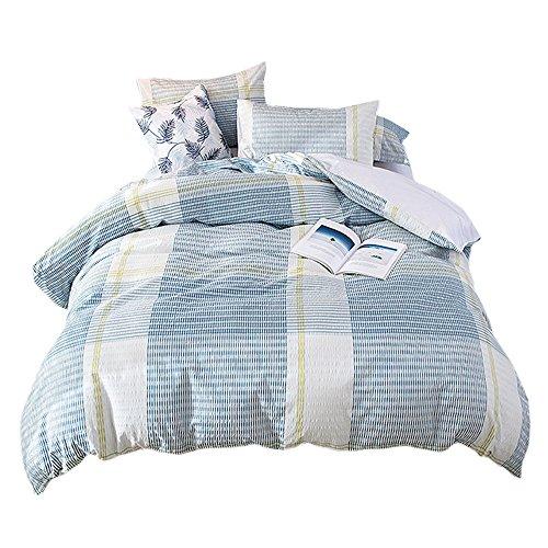 Umi. Essentials Bettbezugsset mit zwei Kissenbezügen aus reiner, garngefärbter Seersucke