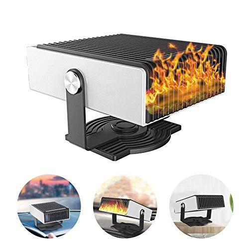WDY - Calefactor eléctrico para Coche, 12 V, 150 W, termostato de bajo Consumo, Resistencia de cerámica...