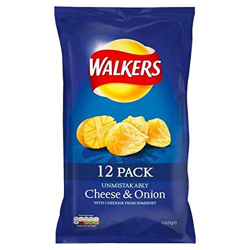 Walkers Cheese & Onion Chips 12 x 25g (Britische Kartoffel-chips)