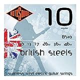 Rotosound British Steels Jeu de cordes pour guitare électrique Acier inoxydable Tirant regular (10 13 17 26 36 46) (Import Royaume Uni)
