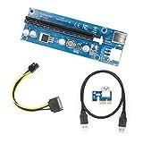 PCIE Riser, YIKESHU PCI-E 1 X à 16 X USB 3.0 Câble d'extension avec câble à 6 broches pour BitCinin et autres (1 PACK)