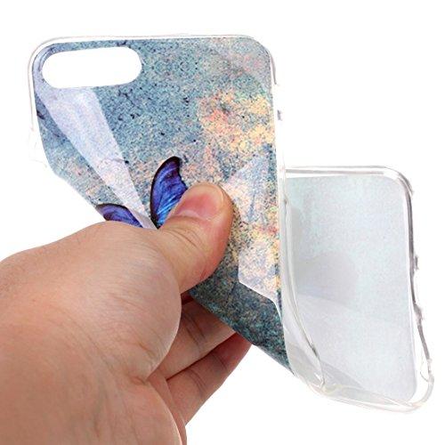 Hülle für iPhone 7 plus , Schutzhülle Für iPhone 7 Plus Bunte Streifen und schwarze Punkte Muster Soft TPU Schutzhülle Rückseite Cover Shell ,hülle für iPhone 7 plus , case for iphone 7 plus ( SKU : I IP7P2204N
