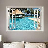 Nueva moda 3D decoración del hogar piscina etiqueta de la pared desmontable autoadhesiva DIY ventana falsa