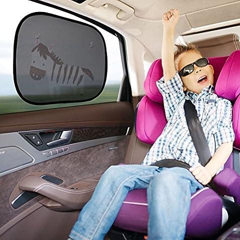 NuoYo Parasol para Ventana lateral de Coche,Parasoles de Coche para Familia y Detener el 90% de losRayos Ultravioleta Nocivos, y de la LuzSolar , Pack de 2 Car Sun Shades