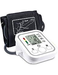 Henweit Haut du Bras Moniteur de Pression Sanguine Automatique moniteurs de fréquence Cardiaque avec Affichage Digital LCD et Variant de Manchette pour Un Usage Domestique, 2utilisateurs Mode