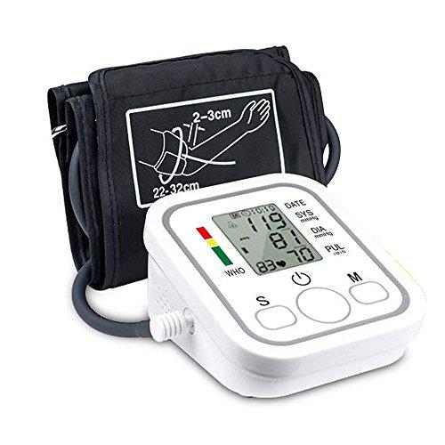 sgerät mit Stimme Lesung , 2Benutzer Modus Automatische Herzfrequenz Monitore mit LCD Display und Grosse Manschette für Zuhause S2 ()