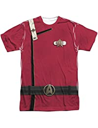 Star Trek Movie Series Admiral Kirk Uniform Adult Front/Back Print T-Shirt