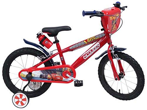 "Disney - Bicicleta de niños, 16"", diseño Lightning McQueen de Cars"