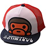Belsen Kind Hip-Hop Affe Mesh Cap Baseball Kappe Hut (Marine)