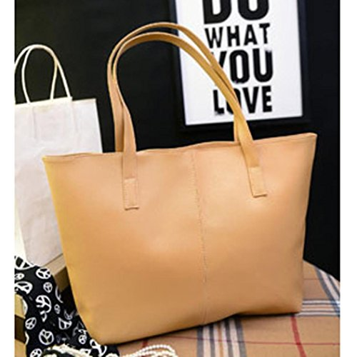 Sac à main, FEITONG® Mode Femmes Faux Cuir Sac à main Sac d'épaule Fourre-tout Bourse sac de messager Kaki