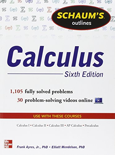 Schaum's Outline of Calculus: 1.105 Solved Problems. Con DVD (Schaum's Outline Series)