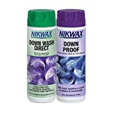 Nikwax Down Proof & Down Wash Direct Twin Pack for Waterproofing and Cleaning Down Jackets, Duvets and Equipment (300ml x2)