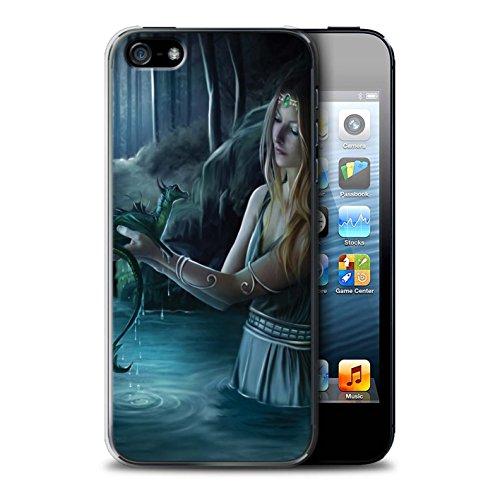 Officiel Elena Dudina Coque / Etui pour Apple iPhone SE / Pack 5pcs Design / Dragon Reptile Collection Eau/Bébé