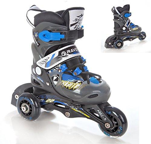 2in1 Kinder Inline Skates Triskates/Rollschuhe Raven Winner