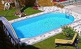 Steinbach Stahlwandpool Set Styria Oval, weiß, 800 x 400 x 150 cm, 38500 L, 012280