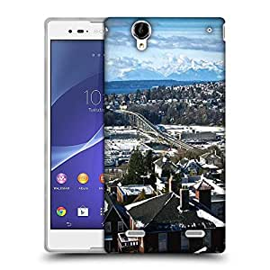 Snoogg Snow On The Roof Designer Protective Phone Back Case Cover For Sony Xperia T2 Ultra