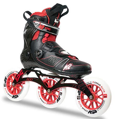 K2 Erwachsene Inline Skates Mod 125 - Schwarz-Rot - EU: 42 (US: 9 - UK: 8) - 30B0022.1.1.090