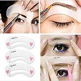 Daoreir DIY Kit Sourcils Toilettage Pochoir Modele Maquillage 3 Styles