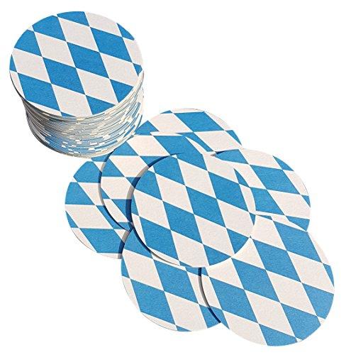 Bierdeckel Bayern | 50 Stück | Rund | Doppelseitig bedruckt | Bayerischer Style
