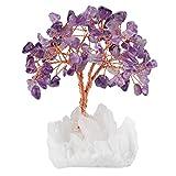 mookaitedecor Amethyst Kristallbaum mit Bergkristall als Basis und bewickeln mit Kupferdraht, schönes...