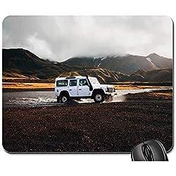 Egoa Tapis de Jeu Land Rover Islande Quatre Roues motrices Camion Voiture Tapis de Souris Mousepad Tapis de Jeu Tapis de Souris Tapis de Souris 25X30cm