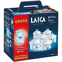 Laica J996 Kit 6 filtri + caraffa filtrante stream line bianca