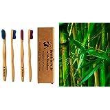Brosse à dents en bambou–conçu par le DR Macao–doux et protection des gencives–4fils Value Pack