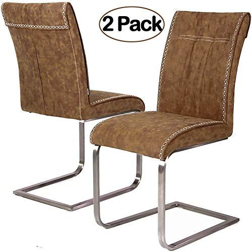 Ambiendi 2er Set Esszimmerstühle Schwingstuhl Vintage
