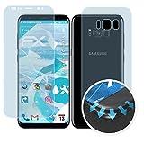 atFolix Schutzfolie für Galaxy S8 Folie - 3er Set FX-Curved-Clear Flexible Displayschutzfolie für gewölbte Displays - vollflächiger Schutz bis zum Rand