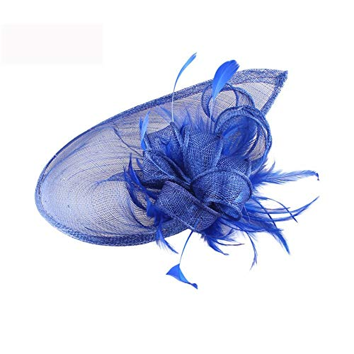 SweetStyle Zylinderhut Hanf Rose Red Jockey Party Kopfbedeckung Haarschmuck Hut, blau
