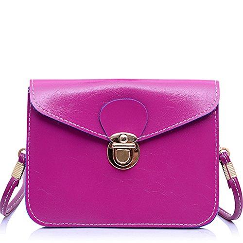 GSPStyle002793-P - Borsa a tracolla donna Rosa (Rosa scuro)