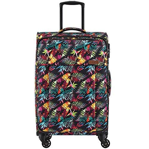 Travelite Campus Hawaii 4-Rollen Weichgepäck Trolley 4-Rad Koffer Luggage 67 cm 3 kg M erweiterbar (Weichgepäck-räder)
