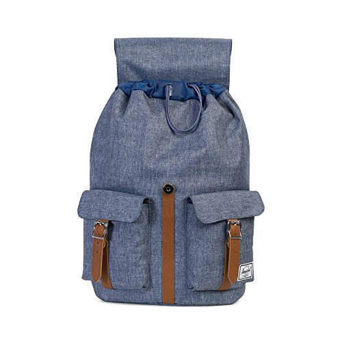 Herschel Supply Company Dawson Casual Tagesrucksack dark chambray crosshatch/tan synthetic leather