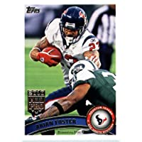 2011 Topps Football Card # 330 Arian Foster / (white jersey) - Houston Texans - NFL Trading Card