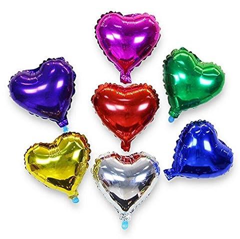 Honeysuck 18 Inches Wedding Decoration Heart Shape Aluminum Foil Balloon
