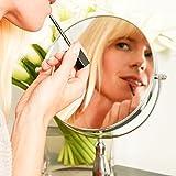 Lumaland formschöner Standspiegel Kosmetikspiegel 10fach Vergrößerung - 4