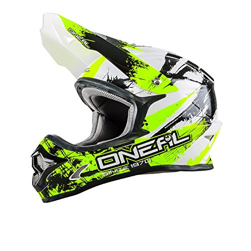 O\'Neal 3Series Shocker MX Helm Neongelb Motocross Cross Enduro Offroad Motorrad Quad, 0623S-7, Größe Large (59-60 cm)