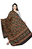 #3: Rani Saahiba Women's Block Printed Aari Mirror Work Cotton Dupatta